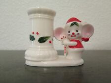 Antique Vintage Christmas Holiday Mouse Candleholder