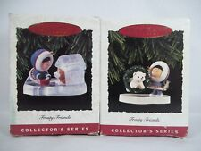 Hallmark Frosty Friends 1993 14th and 1994 15th Ornaments Lot of 2