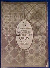 29 Vintage 1932 Quilt Patterns Templates Book 23 Grandmother's  Sewing Quilters