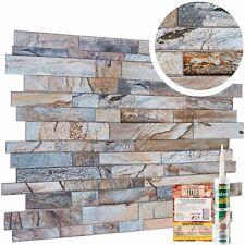 Marble Stone Effect PVC Wall Cladding Panels Grey Real Brick Slate Imitation