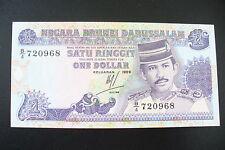 BILLET  ETRANGER  NEUF/ UNC  :  1 DOLLAR BRUNEI 1989  ! A SAISIR !!