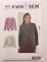 Kwik Sew Sewing Pattern 3531 Misses  Elegant Jackets Blazers Career XS-XL Uncut