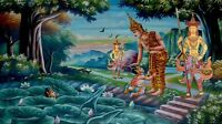 """perfect 48x24 oil painting handpainted on canvas""""Buddhist figures """" NO1728"""