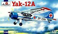 YAKOVLEV YAK-12 A AMBULANCE (SOVIET & POLISH MARKINGS) #72188 1/72 AMODEL