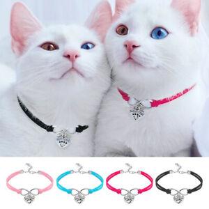 10pcs Wholesale Soft Suede Pet Cat Small Dog Collar Necklace &Pendant Pink Blue