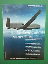 5/2010 PUB NORTHROP GRUMMAN UAV DRONE GLOBAL HAWK ISR USAF ORIGINAL AD