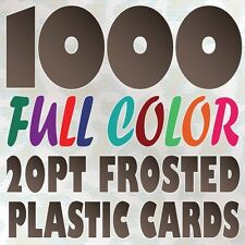 1000 Full Color Custom 20pt FROSTED PLASTIC BUSINESS CARD Printing Round Corners
