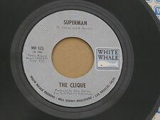 "CLIQUE SUGAR ON SUNDAY / SUPERMAN WHITE WHALE org US GARAGE BUBBLEGUM 7"" 45 HEAR"