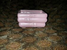Asian Pink Bamboo Pottery Planter Pot Jadinere  Vintage Unmarked