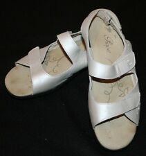 Propet Gray Sandals Womens 8.5 8 1/2 N Narrow Trinidad Pearl Leather