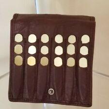 18 Men's Brass-Tone Vintage Collar Stays Three Sizes in Leather Case