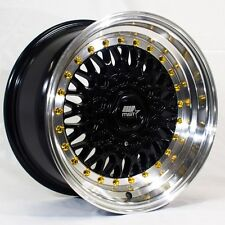 MST MT13 16x8 5x100/114.3 +20 Black Rims Fits Honda Prelude Accord Crv Rsx Mr2