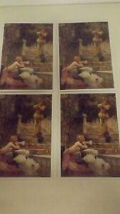 Set of 4 Mermaid Of Zennor Blank Notecards w Envelopes New