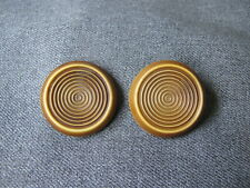 New listing 2 antique art deco brownish stripped celluloid large buttons n