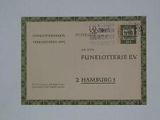 (e685)  Bund Ganzsache Funklotterie FP 9 - 10 Pf.Dürer gestempelt Bad Godesberg