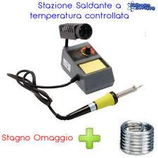 STAZIONE SALDANTE SALDATURA A STAGNO ANALOGICA SALDATORE 48W ZD99 STAGNO OMAGGIO