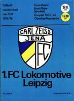 OL 77/78 Carl Zeiss Jena - 1. FC Lok Leipzig, 27.08.1977, Abschied Peter Ducke