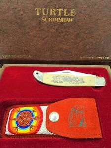 RARE SCHRADE CUTLERY USA LIMITED EDITION POCKET FOLDING KNIFE - TURTLE
