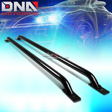 "FOR 07-13 SILVERADO/SIERRA 1500 2500 3500 78"" BED SIDE BLACK TUBULAR RAIL BARS"