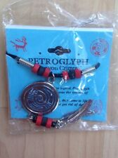 Petroglyph Hope & Guidance Snake Necklace Red/Black Beads on Sentiment Card NEW
