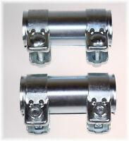 2x BayWorld Auspuff Universal Rohrverbinder 48x52,5x125mm Doppelschelle 48x125mm