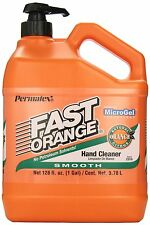 NEW PERMATEX 23218 FAST ORANGE 1 GALLON 128OZ HAND LOTION CLEANER & PUMP 6206379
