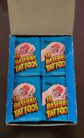 1986 TOPPS BASEBALL TATTOOS NEW UNOPENED FULL WAX BOX W/ 36 PACKS☆FREE SHIPPING☆