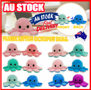 Double-Sided Flip Reversible Octopus Plush Toy Stuffed Doll Mood Meme Kid Gifts