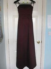 Mexx Full Length Evening Prom Dress / Gown Burgundy/Plum Size UK 8 NEW