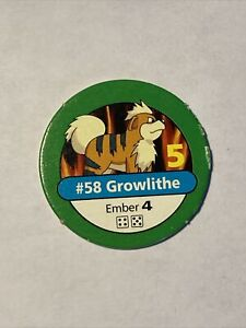 Pokemon Master Trainer Replacement Part Growlithe #58 Token Board Game 1999 POG