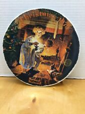 Norman Rockwell Christmas Plates 1979 by Edwin M. Knowles NICE COLLECTIBLE!!!!!