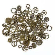 80pcs Bronze Watch Parts Steampunk Cyberpunnk Cogs Gears DIY Jewelry Craft US
