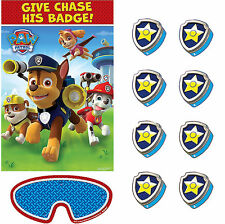 Paw Patrol Party Game Poster Birthday Decoration Party Favor Supply For 8 Guests