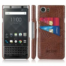 BlackBerry KEYone Wallet Case PU Leather Card Slots Ultra Slim Back Cover Coffee