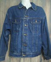 Wrangler Rugged Mens XL Denim Jacket Blue Jean Trucker Farm Cowboy Ranch