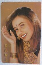 Indian BOLLYWOOD POSTCARDS FILMY RANI MUKHARJEE  HAPPYMOOD QTY 10 C.1990-2000