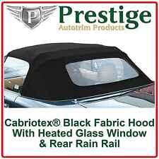 Mazda MX5 Mk2 (NB) 1998-2005 Glass Window Car Hood Soft Top Roof With Rain Rail