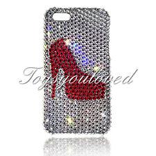 High Heel Crystal BLING BACK CASE FOR IPHONE 7 8 4.7 Made w/ SWAROVSKI ELEMENTS