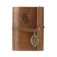 Vintage Notizbuch Tagebuch Kunst-Leder-Buch Heft Reisetagebuch Kladde braun