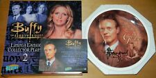 Buffy Ltd Num Giles China Plate w Anthony Stewart Head Autograph 2003 New Unused