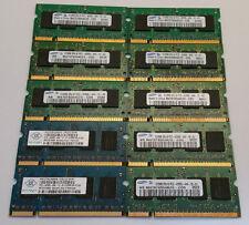*Lot of 10* 512MB DDR2 533mhz 2Rx16 pc2-4200 Laptop Memory SODIMM Samsung /Nanya