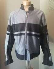Teknic Motorcycle Riding Jacket Black/Gray armor Women's Size 10. Lined.