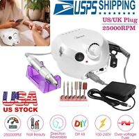 Professional Manicure White Electric Drill File Nail Art Pen Machine Kit