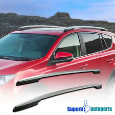 fit 13-17 Toyota RAV4 OE Style Silver Aluminum Roof Rack Side Rail Pair Set