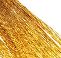 10 Yards Gold Metallic Craft Gift Tag Wrap Cord 1mm String Bracelet Rope Braided