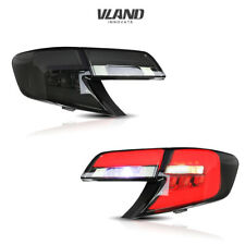 VLAND LED Tail Lights For Toyota Camry 2012 2013 2014 Smoked Lens Rear Lamps