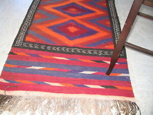 Carpet kilim Arabian Bedouin weaving Carpet Hallway Runner Vintage 118 x 38 1980