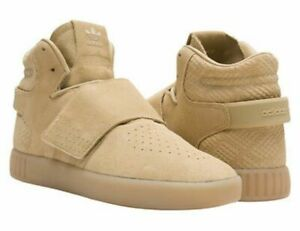 NWT - ADIDAS Youth Mens Tan Suede Tubular Invader Strap Trainer Shoe Sneaker - 7