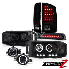 02 03 04 Ram Laramie Halo LED Headlights Sinister Black Tail Fog High Stop Light