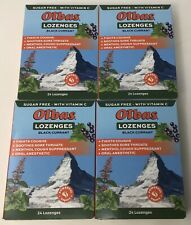 Olbas Lozenges Black Currant: Sugar Free + Vitamin C: 4 Boxes: 24 in each 3/2022